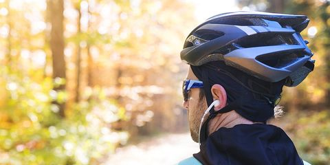 Never wear a earphone while riding